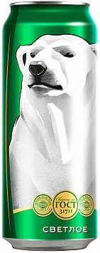 Пиво Белый Медведь светлое пастер. ж/б — отзывы покупателей