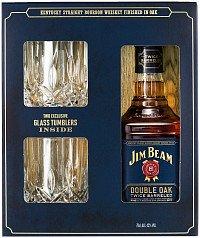 Виски (бурбон) Джим Бим Дабл Оак +2 стакана — отзывы покупателей